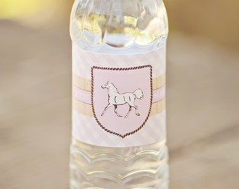 Cowgirl Water Bottle Labels - Printable