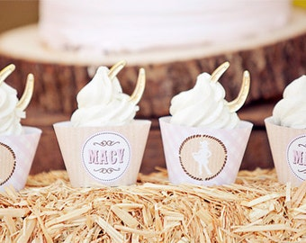 Cowgirl Party Cupcake Wrappers - Printable