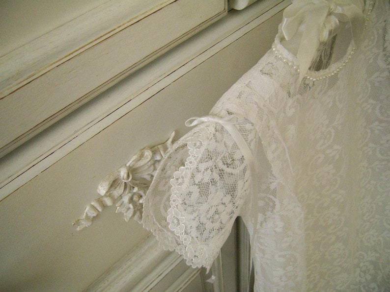 Heirloom Inspired New Lace Christening Gown and Slip size 6 to 12 mo Ready to Ship Handmade Lace Baptism Dress