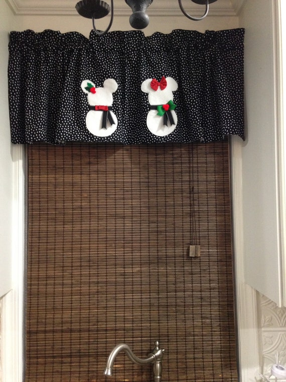 Mickey And Minnie Snow People Valance Etsy