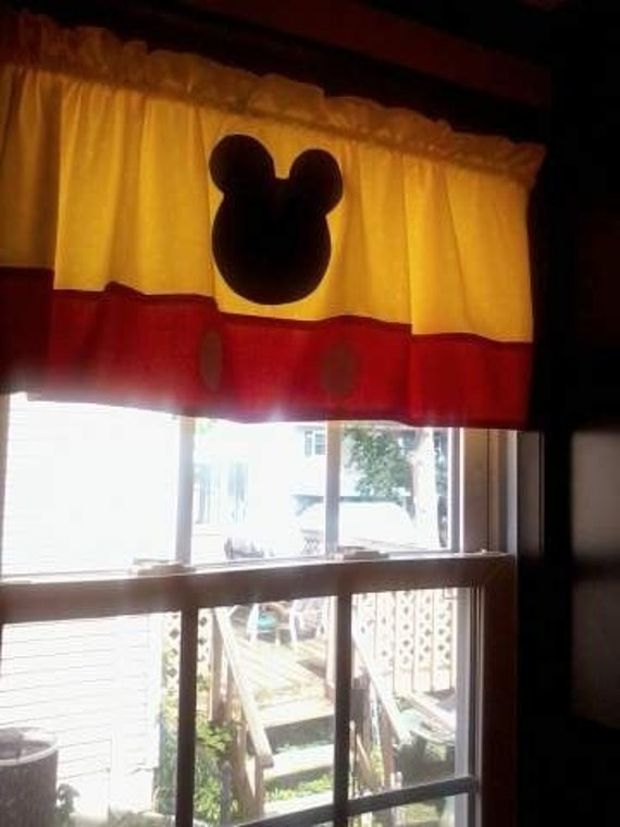 Mickey Mouse Curtain Valance Etsy