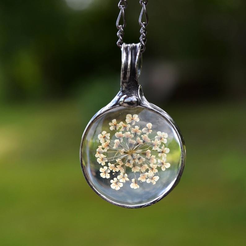 Resin art pendant dainty necklace bohemian earrings best friend gift