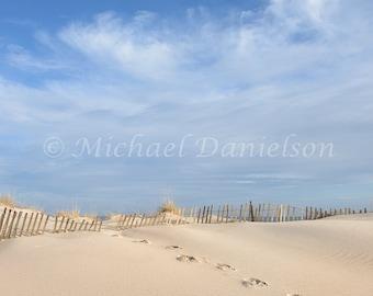 Beach Photograph Print Footprints in Sand 8x10