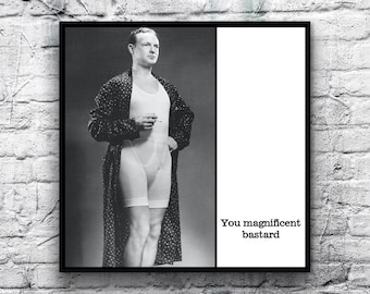 Magnet - You magnificent bastard - Father's Day Birthday Dad Father Husband Partner Friend Grandfather Brother Gift