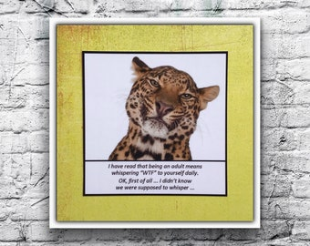 """All Occasion Card - I have read that being an adult means whispering """"WTF"""" to yourself daily ...  - Funny Unisex Card"""