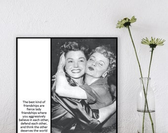 Magnet - The best friendships are fierce lady friendships - Gift for friend