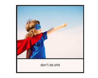 Magnet - Don't be sh*t - Inspirational Superhero Friend Family Son Daughter Colleague Encouragement Support Graduation Gift