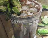 Painting, Print, or Notecards with envelopes from my original painting quot Mint Julep quot of a silver julep cup to commemorate the Kentucky Derby