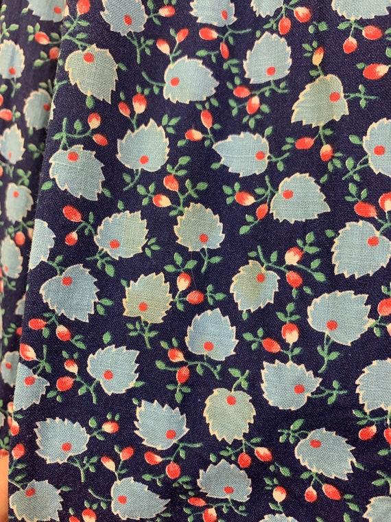 1970's Vintage Cotton Floral Maxi Skirt | High Wa… - image 6