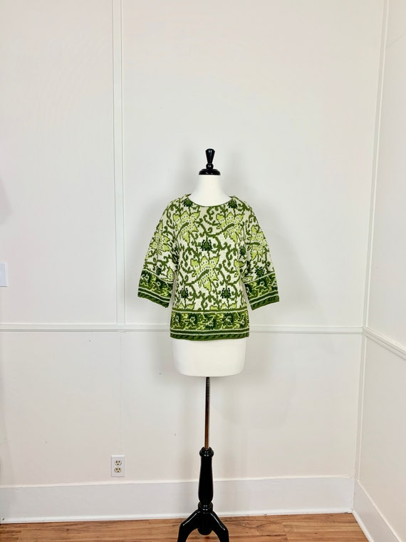 Vintage 1960's Catalina Jacquard Pullover Sweater