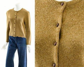 Laura Ashley Sweater,Puff Shoulder,Vintage Laura Ashley,Brown Wool Sweater,Vintage Sweater Cardigan,Soft Wool Sweater,Victorian Feminine