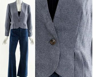 Victorian Peplum Jacket,Dark Academia,Gray Wool Blazer Coat,Fitted Jacket,Puffy Sleeves Jacket,Puffy Shoulders Jacket,Victorian Inspired,
