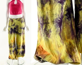 Rainbow Tie Dye Pants,Vibrant Tie Dye Jogger Pants,Multicolored Watercolor Pants,Summer Slushie Pants,Vintage Harem Pants,Tie Dye Linen Pant