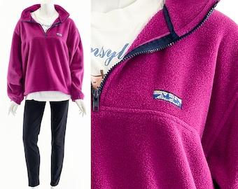 90s Eddie Bauer Fleece Pullover Jacket,Original Eddie Bauer Ski Fleece Jacket,Pink Fleece Coat,Vscogirl Rei Style Jacket,Teddy Bear Jacket