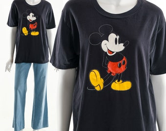 973a17c8 Mickey Mouse T-Shirt, Vintage Mickey Mouse Ringer Tee, Iconic Disney T-Shirt,  Vintage Disney Tee, Vintage Mickey Shirt, 70's Disney Shirt