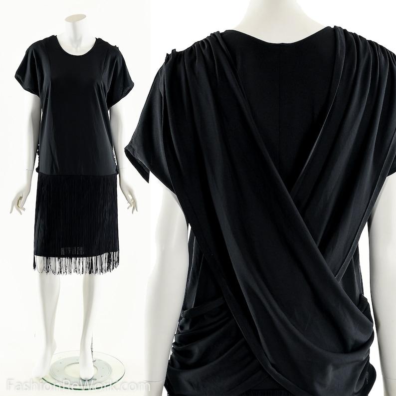 Black Fringe Dress1920s Dress20s Inspired DressFlapper image 0
