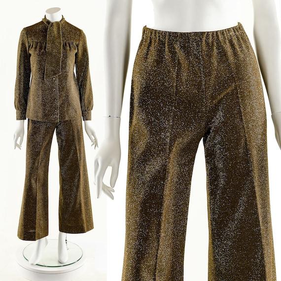 Metallic Lurex Jumpsuit,Vintage Metallic Set,Spar… - image 6