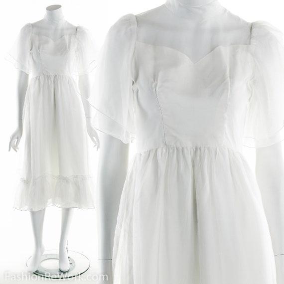 White Dress, Vintage White Dress, Bohemian Wedding