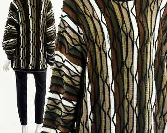 Coogi Sweater,Cosby Sweater,Notorious Big Sweater,Avant Garde Futuristic Jumper,Art Sweater,Funky Texture Sweater,Art Sweater,French PRince