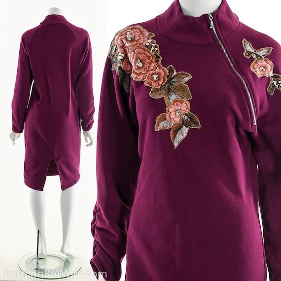 Athleisure Dress, Sweatshirt Dress, 80's Sweatshir