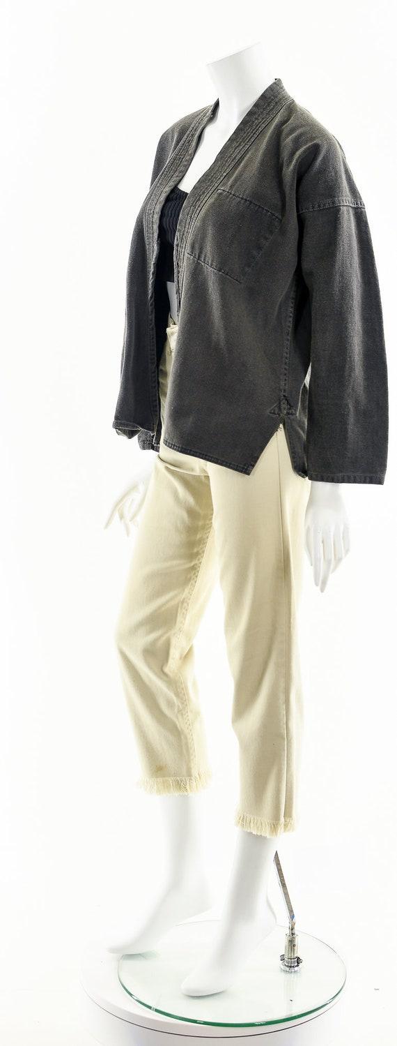 Charcoal Denim Kimono,Light Gray Kimono,Vintage J… - image 10