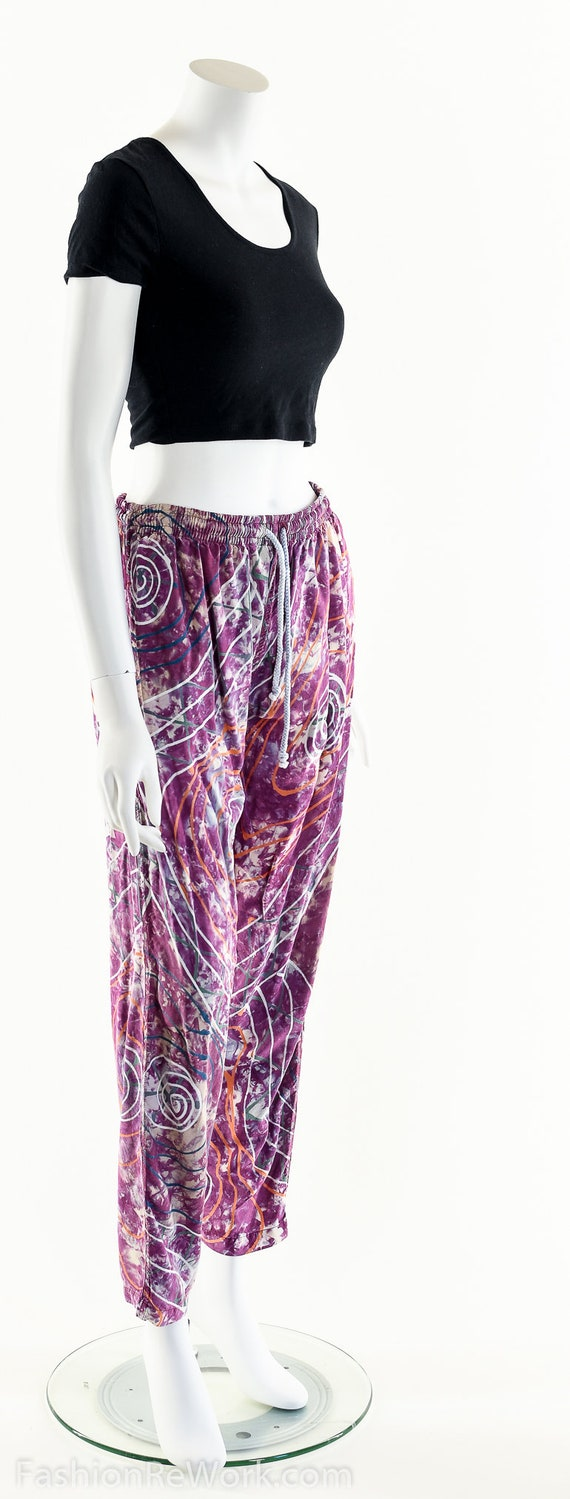 PAINT SPLATTERED Pants,Bright Abstract,High Waist… - image 7
