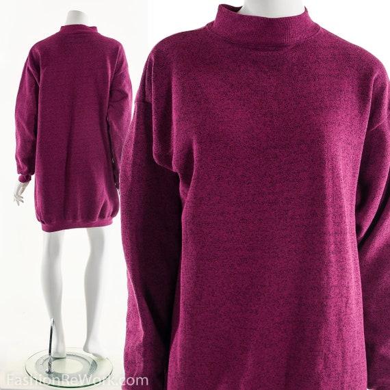 Sweatshirt Dress, athleisure dress, Purple Magenta