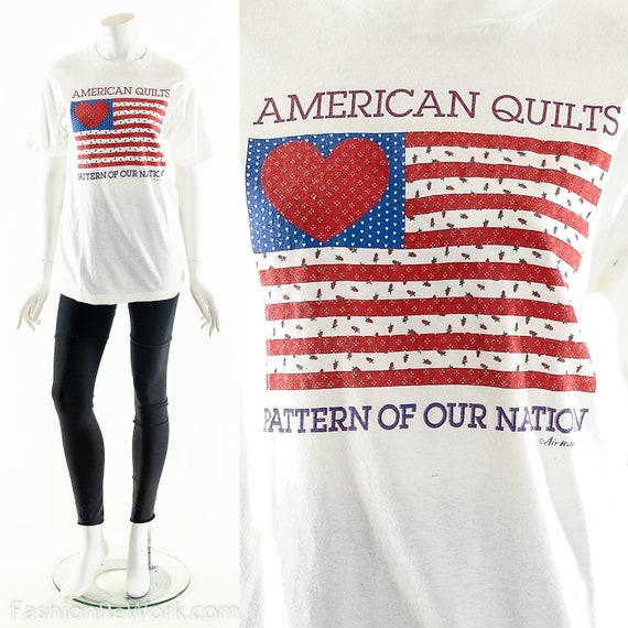 American Quilts T-Shirt, Quilter Tee, Vintage Patr