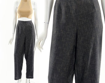 Textured Trouser Pant,High Waist Pant,Menswear Inspired Pants,Dark Academia Style Pant,Business Casual Preppy Pant,Academia Style Look