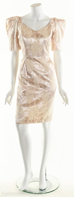 PInk Dress, PInk Brocade Dress, Brocade Dress,Scu… - image 5