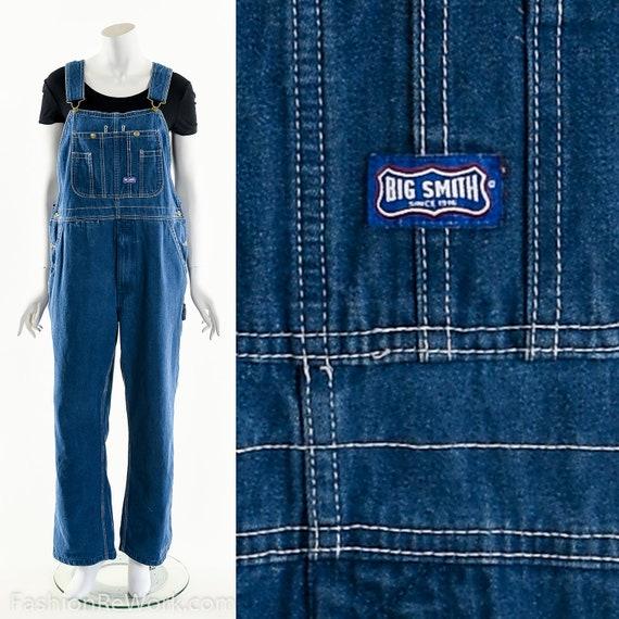 Big Smith Overalls,Vintage Bib Overalls,70s Denim