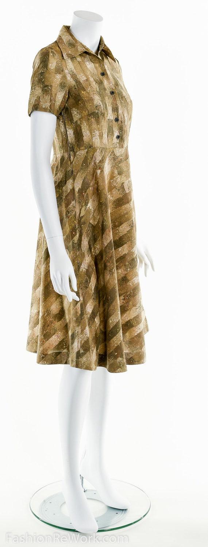 60/'s Gold Dress Dolly Dress A line Dress Mod Dress Retro Dress Party Dress Marble Print Dress Cocktail Dress Festival Dress
