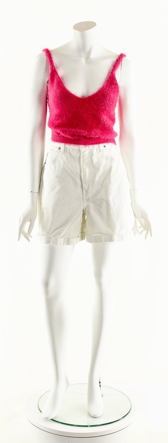 Vintage Denim Shorts,LA Blues Shorts,White Denim … - image 10