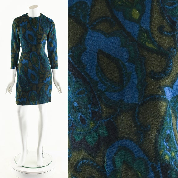 60's Paisley Dress,Cher Boho Dress,Vintage 60's M… - image 1