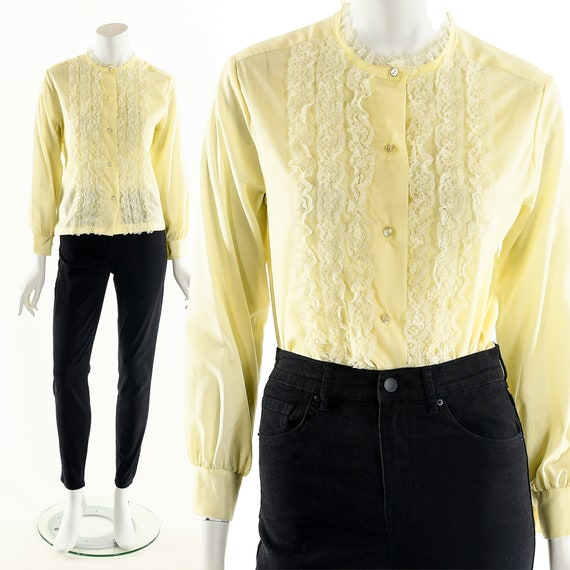 Victorian Yellow Blouse,Victorian Inspired Top,Pal