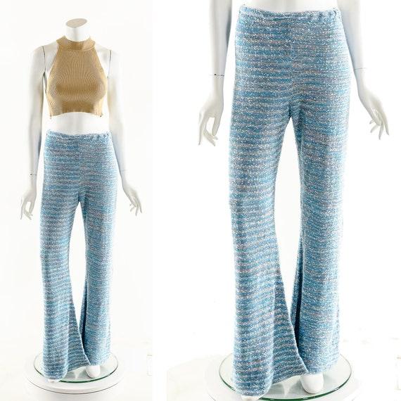 Space Dye Bell Bottoms,Vintage Bobbie Brooks Knit… - image 2