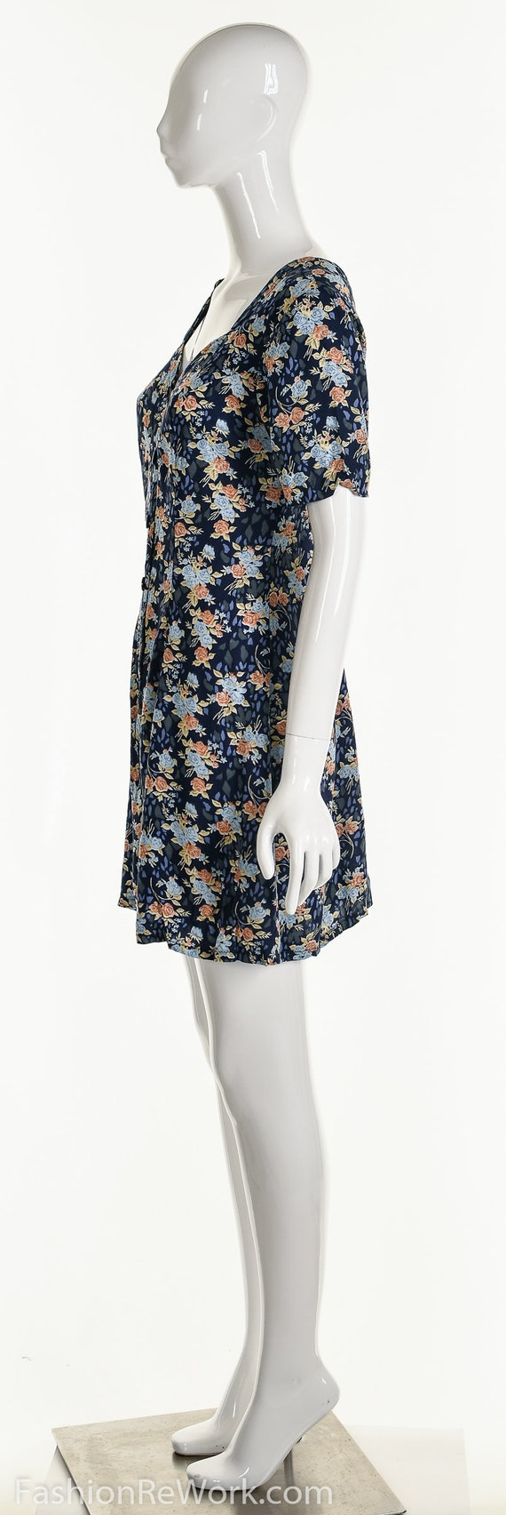 Floral Romper, Rose Romper, Rose Jumpsuit, Blue J… - image 8