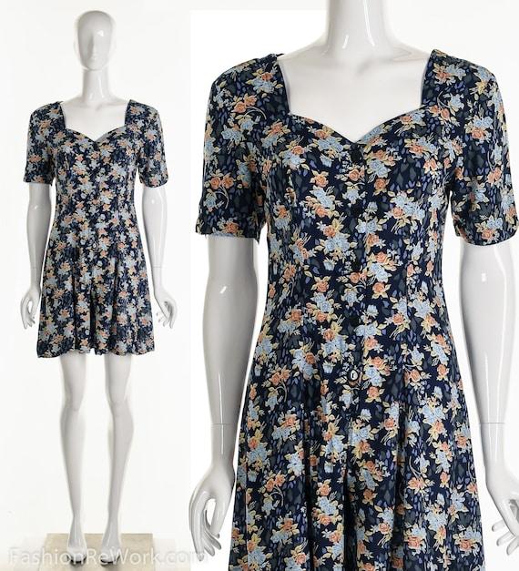 Floral Romper, Rose Romper, Rose Jumpsuit, Blue J… - image 2