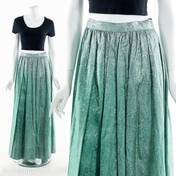 Green Sparkly Skirt,Green Cocktail Skirt,Lurex Ski