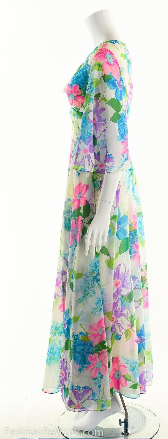Chiffon Maxi Dress, Dreamy Floral Chiffon Dress, … - image 6