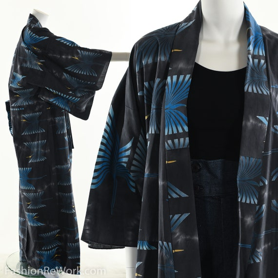 Crane Kimono Vintage Kimono Long Kimono Duster Jac