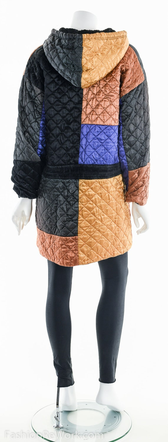Quilted Jacket, Quilted Hoodie Jacket, Colorblock… - image 7