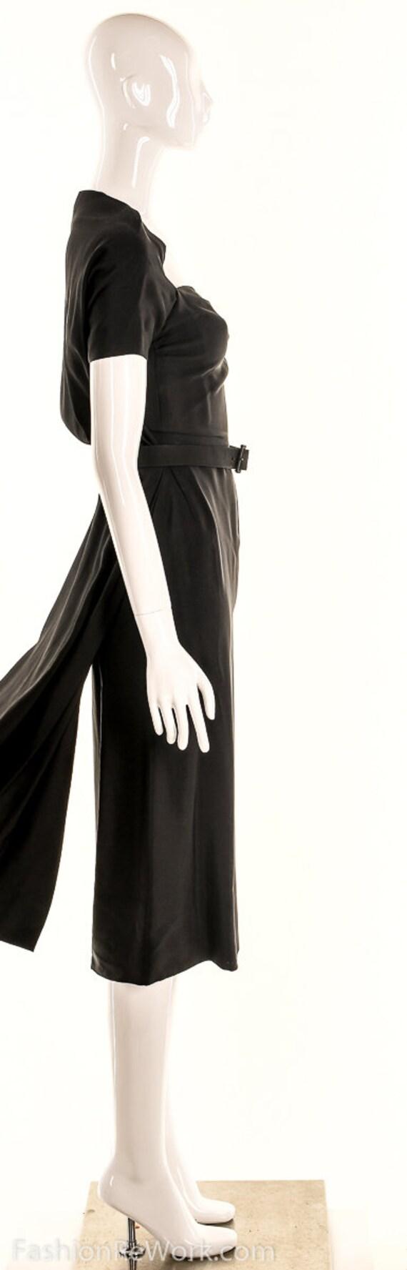 Vintage 40s Black Pencil Dress,40s Va Va Voom Dre… - image 5