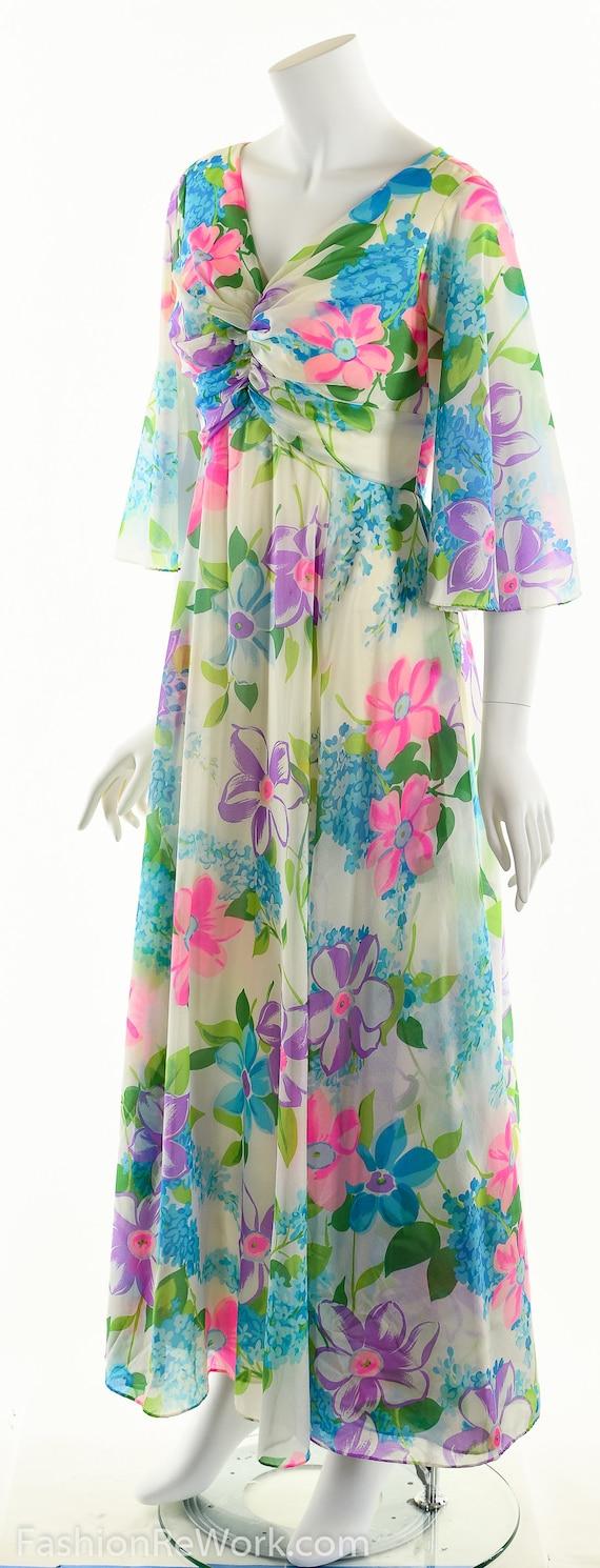 Chiffon Maxi Dress, Dreamy Floral Chiffon Dress, … - image 7