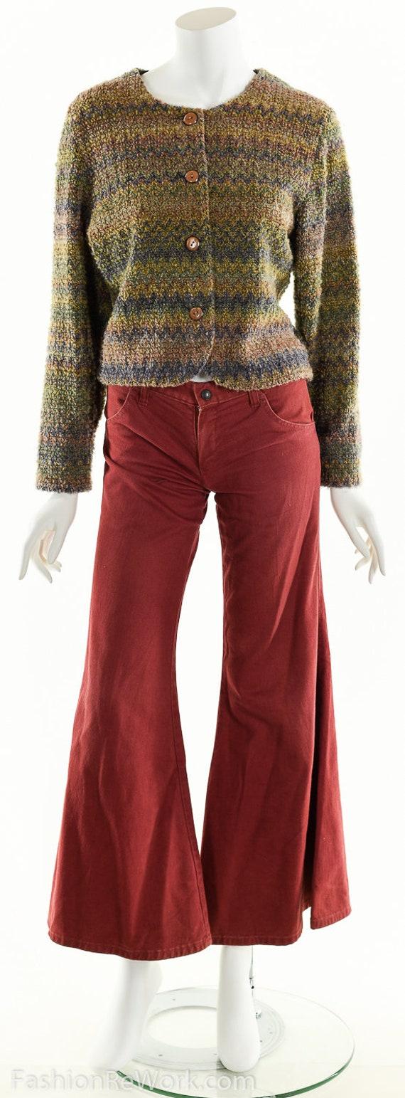 Hand Knit Sweater Jacket, Cropped Sweater Jacket,… - image 7