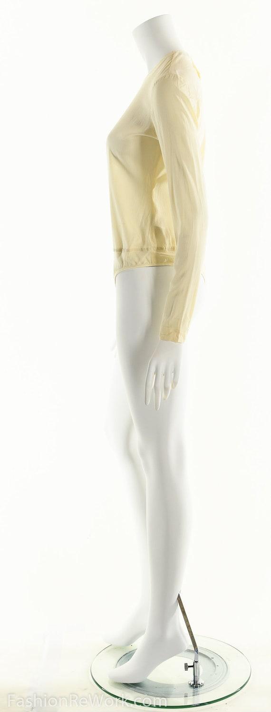 Donna Karan Bodysuit, Cream White Bodysuit, Silk … - image 7
