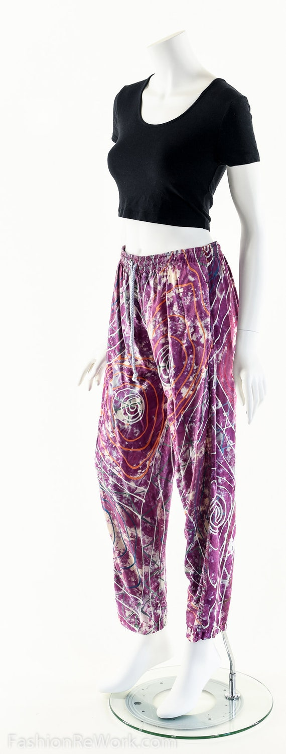 PAINT SPLATTERED Pants,Bright Abstract,High Waist… - image 9