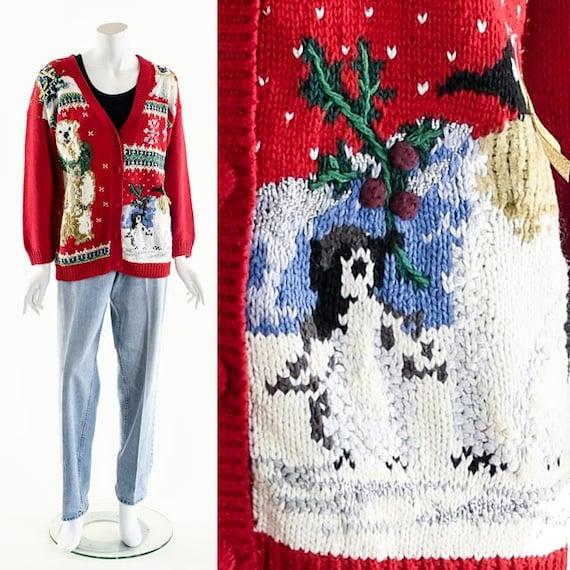 Ugly Christmas Sweater,Festive Holiday,Penguin,Pol