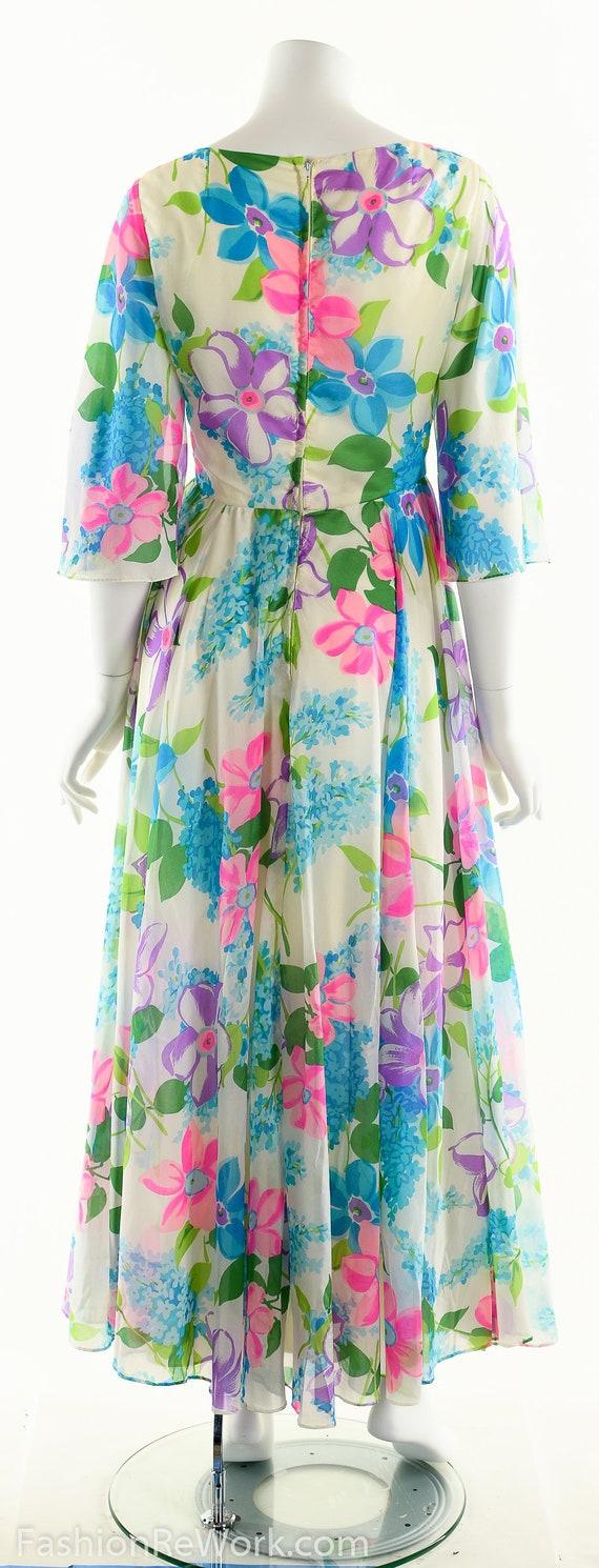 Chiffon Maxi Dress, Dreamy Floral Chiffon Dress, … - image 4
