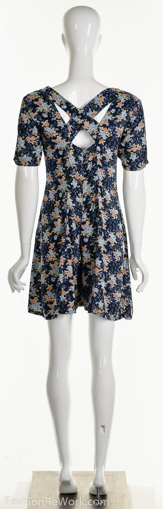 Floral Romper, Rose Romper, Rose Jumpsuit, Blue J… - image 7